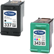 HP 337 Black & 343 Colour Ink Cartridge for Deskjet Inkjet Printers