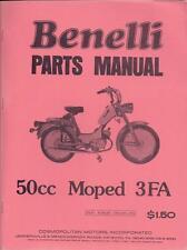1970's Benelli 50cc Moped 5 book collection for 3VK, 3FA, Blazer, Moto Guzzi G2