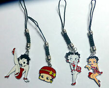 Betty Boop mobile phone/iPod or Bag charm pendant Choice of 4 Red designs