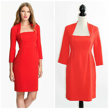 Kate Spade Shiella Red 3/4 Sleeve Sheath Dress 8