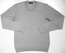 DOLCE & GABBANA D&G MENS 54 XL CREWNECK SWEATER GREY SILVER LUXURY MADE IN ITALY