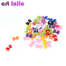 Mix Color Bow Tie Acrylic 3D Rhinestone Nail Art UV Gel Tips Decoration 45pcs