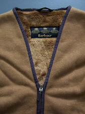 Barbour Children's Warm Pile Lining Large Faux Fur Zip-In Waistcoat Vtg BBS942