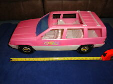 Vintage 1994 Jeep Grand Cherokee Barbie Tim Mee Toy Made in USA Pink & White VGC