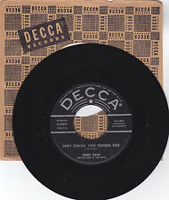 JIMMY SWAN-DECCA 31043 COUNTRY 45 DON'T CONCEAL YOUR WEDDING RING VG+ PLAY GREAT