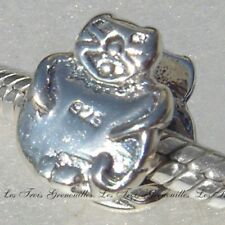 Biagi Bead Sterling Silver, Happy Cat Bead Designer Fashion Charm Jewelry BS240
