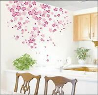 Pink flowers Wall Stickers Mural art Decal Wallpaper Decor REUSABLE DM57--0084