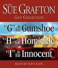 THE SUE GRAFTON GIFT COLLECTION  G Gumshoe H Homicide I Innocence- AUDIO BOOK