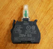 Telemecanique ZBV-B3 Green LED Contact Block - USED