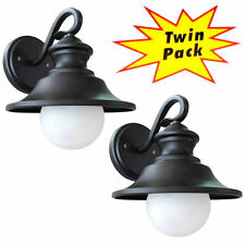 Black Outdoor Patio / Porch Exterior Light Fixtures - Twin Pack #21-2101