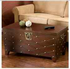 Trunk Style Coffee Tables With Storage Wood Lift Top Cocktail Table Nailhead