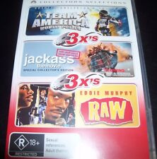 Team America / Jackass The Movie / Raw (Eddie Murphy) (Australia Region 4) 3 DVD