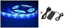12V 5M Blue SMD3528 LEDsx300 Strip Ribbon Tape Light+Power Adapter Waterproof