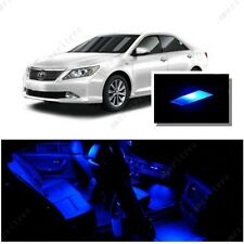 For Toyota Camry W Sunroof 2012-16 Blue LED Interior Kit +Blue License Light LED