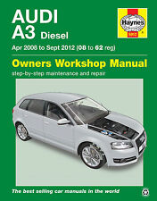 HAYNES WORKSHOP MANUEL FOR AUDI A3 (APR 08 - SEPT 12) 08 TO 62 5912