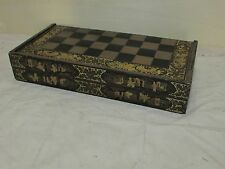Antique Chinese Export Lacquer Chess Backgammon Game Board Box
