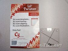 """Lil Twister Acrylic Ruler For Making 5"""" squares Pinwheels Charms Packs Fabric"""