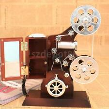 Mini Wind Up Movie Film Projector Melody Play Clockwork Music Box Kids Gift