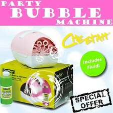 NEW Cheetah Pink Party Bubble Battery Machine * FREE FLUID * Kids Birthday Girls