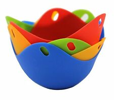 Silicone Non Stick Colorful Egg Poacher Boiler Pods - Egg Cups Cookware, Set ...
