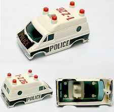 1978-79 Aurora AFX 4-Gear DODGE VAN POLICE VEHICLE Slot Car BODY-ONLY 1946 Bk/Wh