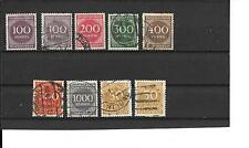 GERMANY- 9 USED 1922-23 INFLATION STAMPS ( LOW PRICE )