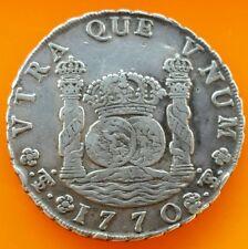 Bolivia- Potosi 1770 Silver 8 reales coin.