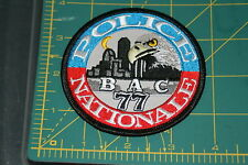 France Police Nationale Brigade Anti-Criminalite BAC 77 Shoulder Patch