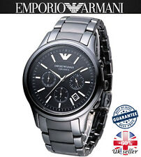 Emporio Armani AR1451 Black Matte Ceramica Mens/Gents Watch *Bigger Than AR1452*
