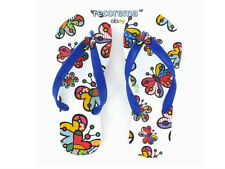 """ROMERO BRITTO FLIP FLOP SIZE: 7/8  """"BUTTERFLY""""   ** NEW * MADE IN BRAZIL"""