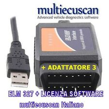 Multiecuscan ELM modificata CAN + software MITO 500 GIULIETTA SERVICE 327 PUNTO