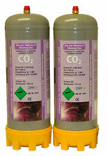 2x Co2 220ltr gas bottles for MIG welding disposable cylinders