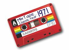 Retro Old School Cassette EF90 Mix Tape 1971 Classic Vinyl Car sticker decal