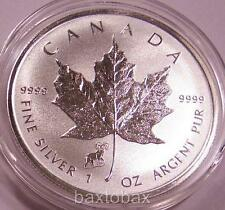 2015 *SHEEP (GOAT) PRIVY* CANADA MAPLE LEAF 1 oz. SILVER REVERSE PROOF $5 COIN