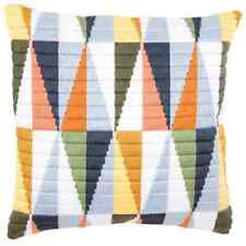 Pastel Triangles - Long Stitch Printed Canvas Cushion Kit-Cross Stitch-Tapestry