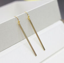 gold plated vertical bar earring metal bar chandelier earrings hot punk earrings
