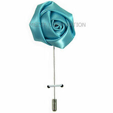 New in box Men's Suit chest brooch Blue flower lapel pin formal