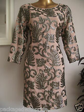 MONSOON ALLY MINK NUDE GOLD EMBELLISHED TUNIC DRESS WEDDING CRUISE PROM PARTY 14