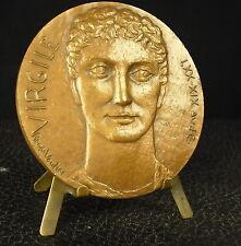 Médaille Virgile Publius Vergilius Maro Énéide Bucoliques par Vautier Medal 勋章
