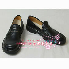 School Uniform Shoes Male Black Cosplay Hallowenn Shoes S008