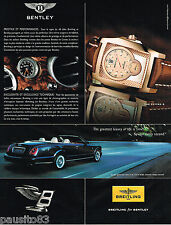 PUBLICITE ADVERTISING 065  2007  BREITLING  montre  BENTLEY