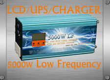 US Stock~5000W LF Pure Sine Wave 12VDC/110V,220VAC PowerInverter LCD/UPS/Charger