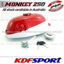 KDF Z50A FUEL TANK RED WHITE PETROL CAP BIKE PARTS FOR HONDA MONKEY Z50 K0 K1 K2