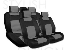 New Black and Grey Synthetic Leather Mesh Car Seat Cover Set for KIA