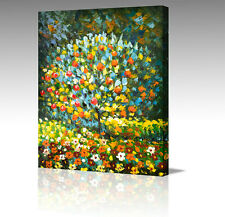"Large 16x12"" GUSTAV KLIMT Apple Tree In Blossom Abstract Canvas Wall Art Picture"