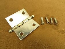 """Columbia Grafonola 1-1/2"""" Special Ball-Tip Nickel-Plated Brass Butt Hinge"""