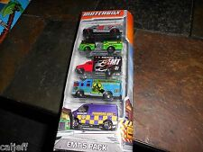 5 CAR GIFT PACK Matchbox MB EMT Ambulance & Fire Trucks