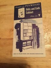 Vintage Douglas Fir Plywood Plan No 7