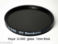Hoya U-340 52mm x 1mm thick UV Pass Ultraviolet Dual Band IR Filter
