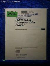 Sony manual de instrucciones CDX reproductor c560rds (#2594)